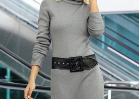 С чем носить вязаное платье?