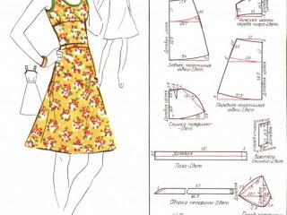 Выкройки платьев, бесплатная выкройка летнего платья